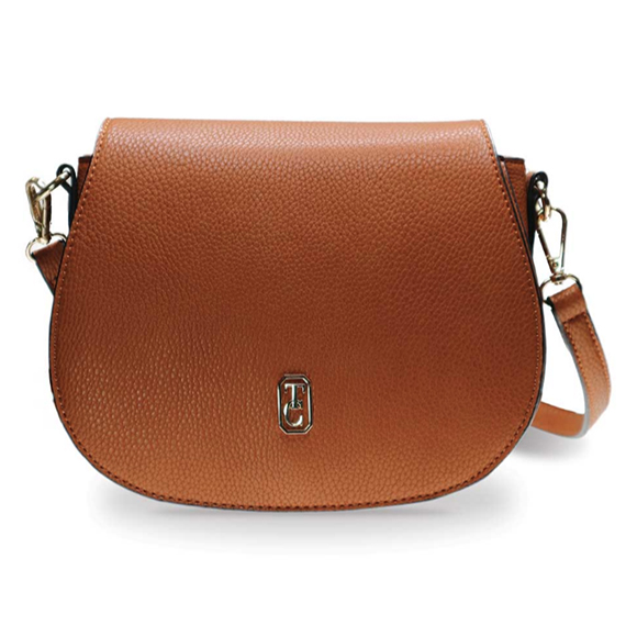 Tipperary Crystal Kensington Brown Saddle Bag