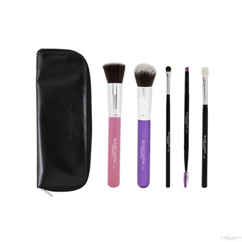Blank Canvas 5 Piece Set #2 (F20, Hot Pink, F22 Purple, E27, E26, E30) With Travel Case