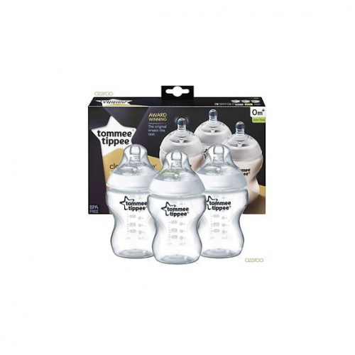 Tommee Tippee Closer to Nature Triple Pack Bottles 260ml 0+ Months