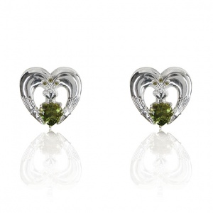 Tipperary Crystal Maureen O'Hara Silver Claddagh Earrings