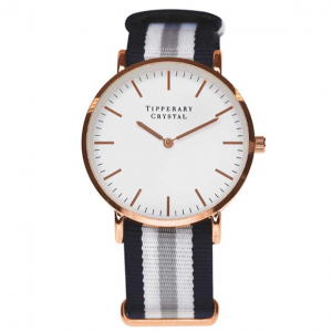 Tipperary Crystal Precision Watch - Grey Nato Strap