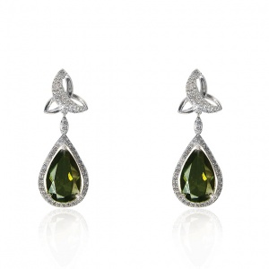 Tipperary Crystal Maureen O'Hara Silver Trinity Knot Earrings