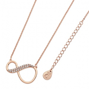 Tipperary Crystal 8 Shape Infinity Pendant Rose Gold