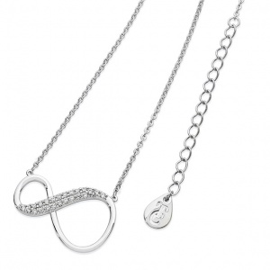 Tipperary Crystal 8 Shape Infinity Pendant Silver