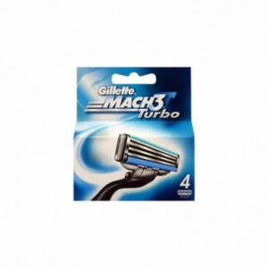 Gillette Mach3 Turbo Cartridges (4pack)