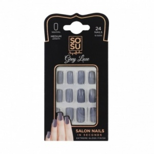 SOSU Nails Grey Luxe