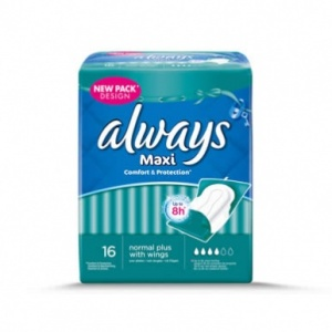 Always Maxi Normal Plus with Wings 16 Pack