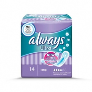 Always Ultra Long Sanitary Towels 14 Pack