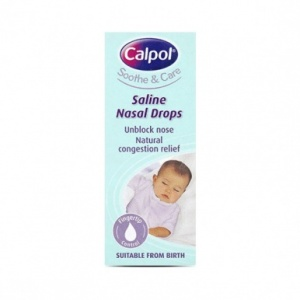 Calpol Soothe & Care Saline Nasal Drops 10ml
