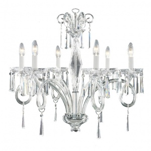 Tipperary Crystal Elegance 6 Arm Chandelier