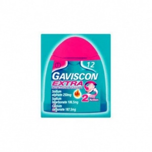 Gaviscon Extra Chewable Peppermint Handy Pack Tablets 12s