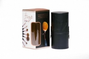 Flique 7 Piece Oval Make Up Brushes Set
