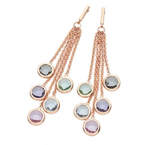 Tipperary Crystal Pastel Grape Earrings