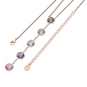 Tipperary Crystal Pastel Linear Necklace