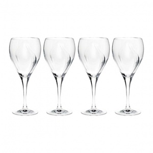 Tipperary Crystal Pearl Wine Glasses Set of 4 in Gift Box