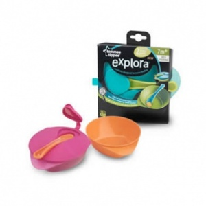 Tommee Tippee Explora Easy Scoop Feeding Bowls with Lid & Spoon