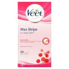Veet Wax Strips with Easy Grip Normal Skin