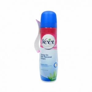 Veet Spray On Hair Removal Cream Sensitive Skin 150ml