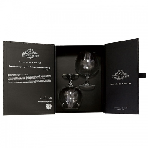 Tipperary Crystal Connoisseur Set of 2 Brandy Glasses 690ml in Gift Box